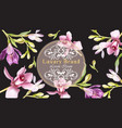 luxury brand card with orchid flowers elegant vector image
