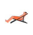 man sunbathing on chaise longue flat style vector image vector image