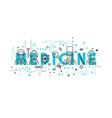 Medicine concept design vector image vector image