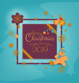 merry christmas greeting card banner winter vector image vector image