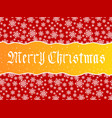 merry christmas lettering over red vector image vector image