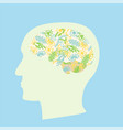 microbiota brain concept vector image vector image