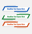 modern lower third template in three colors vector image vector image