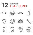 mouth icons vector image vector image