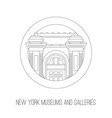 new york attractions thin lined icon of vector image vector image