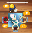People working and meeting at the table vector image