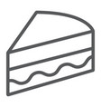 piece of cake line icon sweet and food pie sign vector image