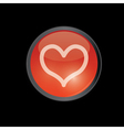 red round heart button vector image vector image