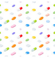 seamless pattern medical pills tablets capsules vector image vector image