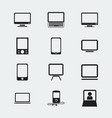 set of 12 editable devices icons includes symbols vector image vector image