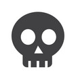 skull bone icon vector image