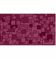squares in various shades of burgundy background vector image vector image