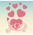 St Valentine s Day Greeting Card vector image vector image