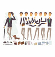 stylish man - cartoon people character vector image