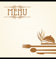 template for menu card with cutler vector image vector image
