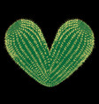 thorny heart thorny cactus in the shape of heart vector image vector image