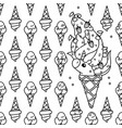 unicorn pattern coloring page vector image