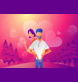 velentine card template with love couple vector image vector image