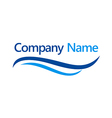 Water swoosh company logo vector image