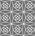 White geometrical ornament on gray vector image vector image