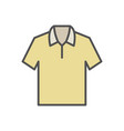 yellow t-shirt icon on white background vector image