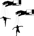computer marionettes vector image