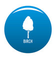 birch tree icon blue vector image