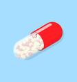 single medical pill vector image