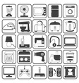 Home Appliance Icons Set vector image
