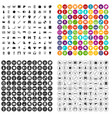 100 favorite activity icons set variant vector image vector image