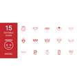 15 angel icons vector image vector image