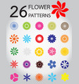 26 of flower pattern vector image vector image
