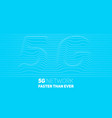 abstract 5g new wireless internet vector image vector image