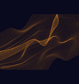 abstract design element with orange waves vector image vector image