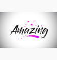 amazing handwritten word font with vibrant violet