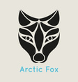 Arctic Fox Icon vector image vector image