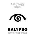 astrology asteroid kalypso calypso vector image vector image