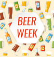 beer week colorful poster vector image vector image