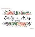 boho wedding floral invite save date card vector image vector image