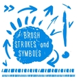 Brush strokes and simbols vector image vector image