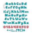 bubble double font comic alphabet vector image
