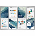 business backgrounds set vector image vector image