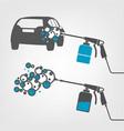 car wash image vector image