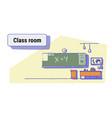 class room interior empty school classroom vector image vector image