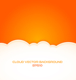 cloud background with text space vector image