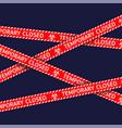 coronavirus quarantine red warning type vector image vector image