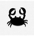 crab or cancer icon isolated on transparent vector image vector image