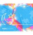 Creative Crescent Islamic Art vector image vector image