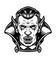 creepy vampire head vintage template vector image vector image