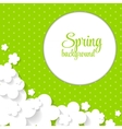 Cute Spring Background with Paper Flowers vector image vector image